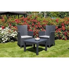rattan garden furniture set weave wicker sofa chair table patio