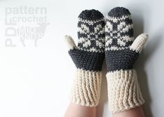 Ravelry: Fair Isle Crochet Snowflake Mittens (2016001) by Erin Black