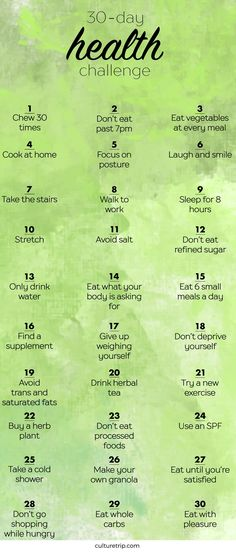 The 30-Day Health Challenge #healthandfitnessweightloss