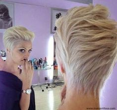 Resultado de imagem para cabelos curtos jogados para tras femininos