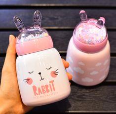 Last few left Save off with Worldwide Shipping – Tracking ID Included Kawaii Bunny, Kawaii Cute, Cute Water Bottles, Baby Bottles, Thermal Flask, Mode Kawaii, Vacuum Cup, Accessoires Iphone, Kawaii Room