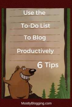How to Use a To-Do List to Be a More Productive Blogger