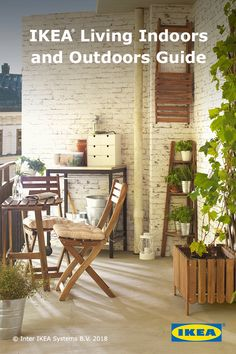 Learn how to turn your balcony into a great getaway with the IKEA Living Indoors and Outdoors Guide. Grill Design, Patio Design, Outdoor Spaces, Outdoor Living, Outdoor Decor, Porches, Interior Design Living Room, Outdoor Furniture Sets, Restoration