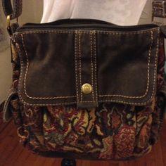 Tapestry Fossil purse vintage shoulder bag by VicsVintageCloset, $20.00
