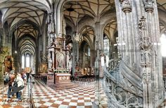 This is the interior of Stephansdom in Vienna Austria.  It looks like a pretty scary place to have a sleepover. Link in bio for more pictures loves! #APlaneTicketAndReservations        #Stephansdom #Vienna #Austria #ToLiveAndDineInVienna #ToLiveAndDine #GrubLife #Travel #Traveler #Travels #TravelGram #TravelinGram #Traveling #Vacation #Wanderlust #TravelBlog #Holiday #TravelBlogger #Wanderer #GlobeTrotter #WorldCaptures #WorldTraveler  #InstaTravel #InstaTraveling #Holidays #InstaPassport…