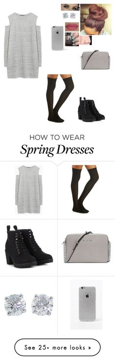 """I don't want to do anything"" by rebecca-dean05 on Polyvore featuring Zara, Charlotte Russe, Call it SPRING, MICHAEL Michael Kors, Tiffany & Co., She's So and LA: Hearts"