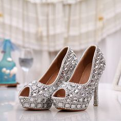 Bridal Shoes with Rhinestones Shop the best handmade shoes at…