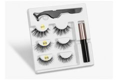 Magnetic Eyelashes Eyeliner Eyelash Curler Magnet Natural Long Magnetic False Eyelashes With Magnetic Eyeliner – The Product Guru – Your Best Product Suggestion Platform Eyelash Kit, Eyelash Curler, Eyelash Extensions, Thicker Eyelashes, False Eyelashes, Diy Videos, Magnetic Lashes, Beauty Essentials, Aliexpress