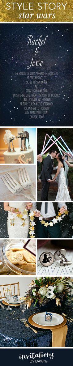 Star Wars themed wedding.  #StarWars #StarWarsDay