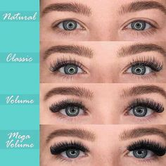 Understanding the difference ✔️ This is for my clients who are unsure of which set they are looking for. here's an example of the difference between CLASSIC Eyelash Extensions Styles, Volume Lash Extensions, Natural Fake Eyelashes, Eyelash Studio, Makeup At Home, Beauty Lash, Volume Lashes, Natural Cosmetics, Eye Makeup