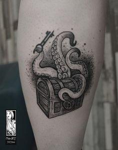 Davy Jones Tattoo, Up Tattoos, Cool Tattoos, Skull, Instagram, Cover, Tatuajes, Coolest Tattoo, Nice Tattoos