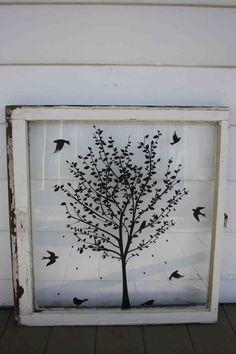 CYBER MoNDAY SALE // Old Vintage Window Repurposed par EightySix56