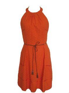 LONDON TIMES Halter Lace Spring Summer Dress-ORANGE-10 « Dress Adds Everyday