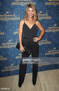 Actress Lori Loughlin attends the premiere of Hallmark Movies & Mysteries' 'Garage Sale Mystery' Michael Champion, Candance Cameron Bure, Scott Weinger, Hallmark Mysteries, Red Carpet Party, Jack And Elizabeth, Lori Loughlin, Classy Casual, Celebrity Red Carpet
