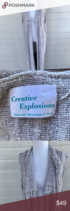 c0877b921e98 Creative Explosions Chenille Duster Long Vest Creative Explosions Chenille  Duster Long Vest. Size  Large