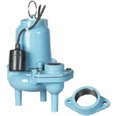 ES60W1-20 Automatic Sump/Effluent/Sewage Pump w/ Piggyback Wide Angle Float Switch and 20' cord, 6/10 HP, 115V
