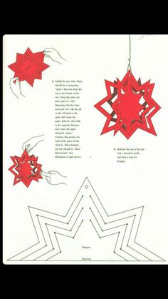 Make various types of paper and soda can stars. Danish Christmas, Christmas Paper, Christmas Holidays, Paper Ornaments, Xmas Ornaments, Christmas Decorations, Paper Snowflakes, Paper Stars, Christmas Projects