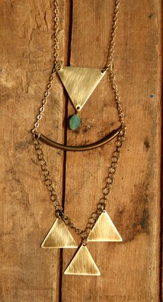 galene // geometric statement necklace Geometric Necklace, Matte Gold, Glass Beads, Arrow Necklace, Delicate, Jewellery, Texture, Chain, Heart
