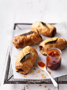 Make the sage choice this weekend with these delicious homemade sausage rolls. Sure to impress young and old alike. Best Sausage Roll Recipe, Homemade Sausage Rolls, Sausage Recipes, Pork Recipes, Recipes Appetizers And Snacks, Savory Snacks, Snack Recipes, Savoury Recipes, Brioche