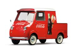 1959 Goggomobil Transporter pick-up in Coca Cola livery microcar Microcar, Volkswagen, Vw T1, Old Trucks, Pickup Trucks, Propaganda Coca Cola, Always Coca Cola, Transporter, Cute Cars