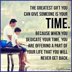 Time is precious!