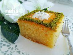 Klasik Revani (Tam Ölçülü Muhteşem) Appetizer Recipes, Dessert Recipes, Appetizers, Yummy Recipes, Cookie Desserts, Cornbread, Deserts, Food And Drink, Yummy Food