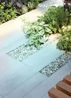 Bradstone smooth natural sandstone paving, create tidy borders for those smaller courtyard gardens.