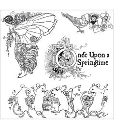 Graphic 45 Once Upon A Springtime Cling Stamp 4.5