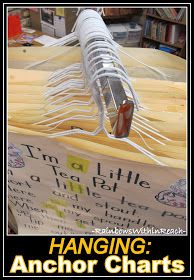 Organize your Anchor Charts by Hanging them on Hangers
