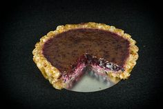raw blueberry tart