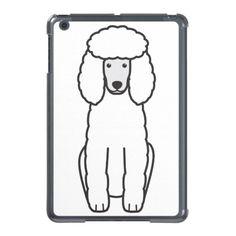 Poodle Dog Cartoon iPad Mini Cover