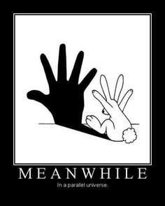 meanwhile-in-a-parellel-universe Bunnies love to play shadow puppets Funny Pins, Funny Memes, Funny Stuff, Random Stuff, Stupid Stuff, It's Funny, Memes Humor, Funny Videos, Jokes