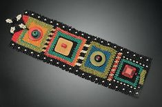 Julie+Powell+bead   Juicy Brights with Black Cuff: Julie Powell: Beaded Cuff - ...   Beads