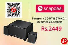 Snapdeal is offering 47% off on Panasonic SC-HT18GW-K 2.1 Multimedia Speakers Just at Rs.2449. 45 watts Total RMS Power, 20 hz – 20 khz Frequency Response, This speaker system provides you exquisite sound quality.   http://www.paisebachaoindia.com/panasonic-sc-ht18gw-k-2-1-multimedia-speakers-just-at-rs-2449-snapdeal/