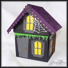 Haunted House Explosion Box by myimajennation - Cards and Paper Crafts at Splitcoaststampers