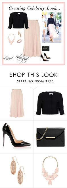 """""""Creating Celebrity Look..."""" by rene-clarke ❤ liked on Polyvore featuring Alice + Olivia, Issa, Christian Louboutin, MICHAEL Michael Kors, Kendra Scott and Eddie Borgo"""