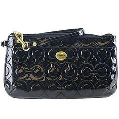 Peyton Embossed C Patent Leather Medium Wristlet Bag Purse F49883 Emboss 2a88234ddc362