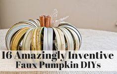 16 Amazingly Inventive Faux Pumpkin DIYs