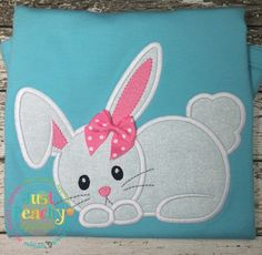 Cute Bunny Applique Embroidery Design