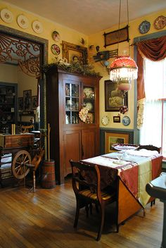 Dining area of kitchen in our Folk Victorian. This isn't the original kitchen. The original one was tiny and became a perfect laundry room.
