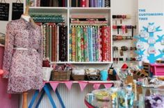 Sew Over It - a sewing cafe. What a great idea