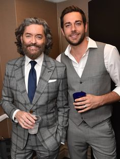 """Timothy Omundson, left, and Zachary Levi attend the 23rd annual """"A Night at Sardi's"""" to benefit the Alzheimer's Association at the Beverly Hilton Hotel on Wednesday, March 18, 2015, in Beverly Hills, Calif. #ENDALZ"""