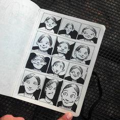 12 expresiones. Tinta negra