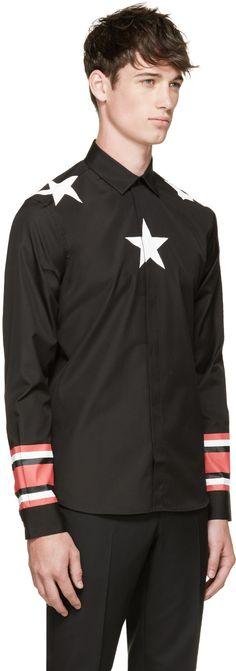 Givenchy Black Stars & Stripes Shirt