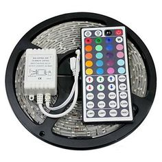 ChiTronic_¡ 16 Feet RGB 3528 SMD 300 LED Waterproof Light Strip Lamp with 44 Key IR Controller ^^ Don't get left behind, see this great product : home diy lighting Flexible Led Light, Flexible Led Strip Lights, Rgb Led Strip Lights, Led Light Strips, Strip Lighting, Cute Room Decor, Teen Room Decor, Room Ideas Bedroom, Pinterest Room Decor