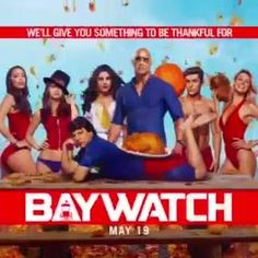 Oh we're gonna give you something to be thankful for..Jon Bass with a turkey on his ass is optional.   Happy Thanksgiving from our loving family Ilfenesh Hadera Alexandra Daddario Kelly Rohrbach Zac Efron and Priyanka Chopra to yours.   #BAYWATCH #AvengersOfTheBeach #OnlyHighlyDysfunctional MAY 2017