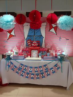 Dr Seuss Cat in the Hat Dessert Table
