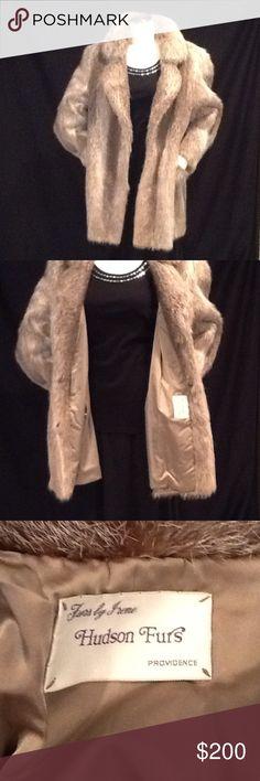 HUDSON GENIUNE MINK COAT. HUDSON GENUINE  MINK COAT VINTAGE. Hudson Jackets & Coats