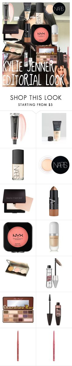 KYLIE JENNER EDITORIAL LOOK by oroartye-1 on Polyvore featuring beauty, Marc Jacobs, NARS Cosmetics, Too Faced Cosmetics, Becca, Laura Mercier, Benefit, Maybelline, NYX and Bite