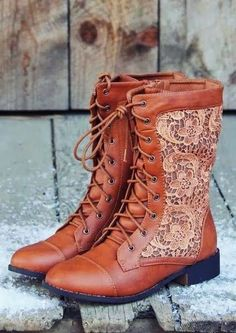 Harper Detailed Leather Lace Up Boots